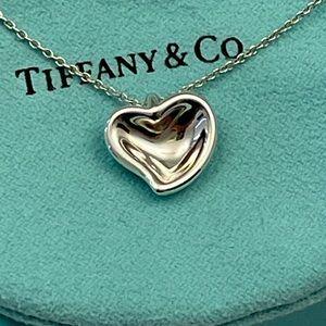 Tiffany & Co. Elsa Peretti's Curved Heart Pendant